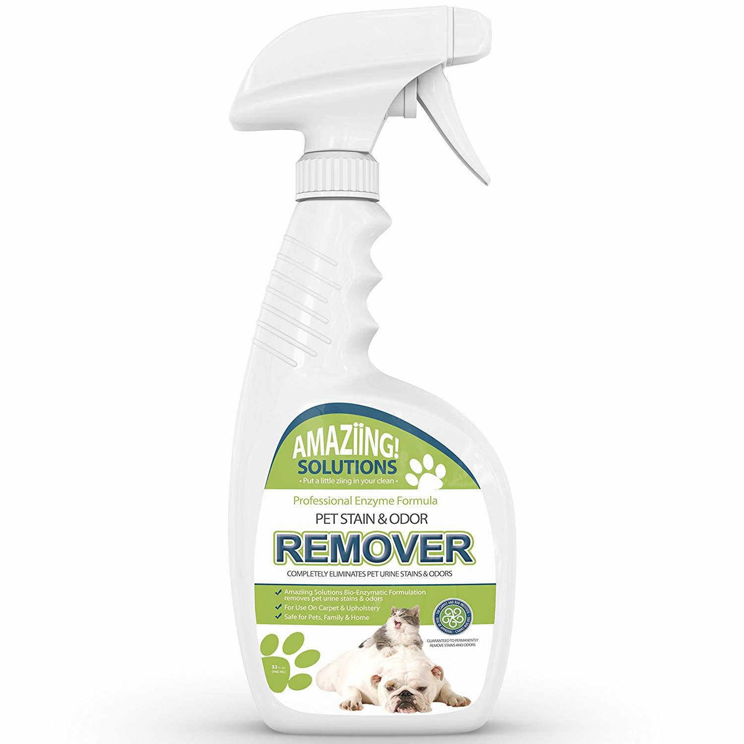 This is Amazing Solutions Pet Odor Eliminator and Stain Remover